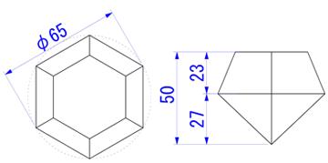 ダイヤカット65mm図面