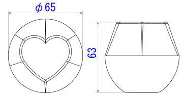 ハート65mm図面
