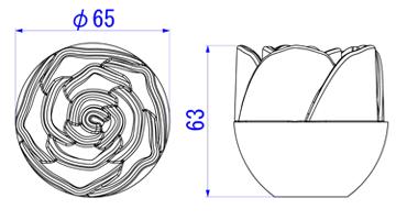 ローズ65mm図面